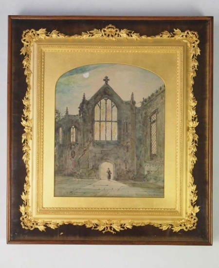 Signed Victorian Watercolour in Ornate Boxed Gilt Frame