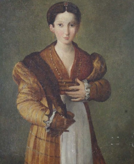 Portrait of a Young Lady After Parmigianino