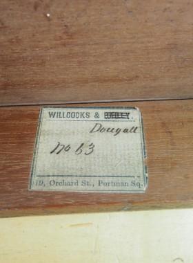 Victorian Walnut Davenport