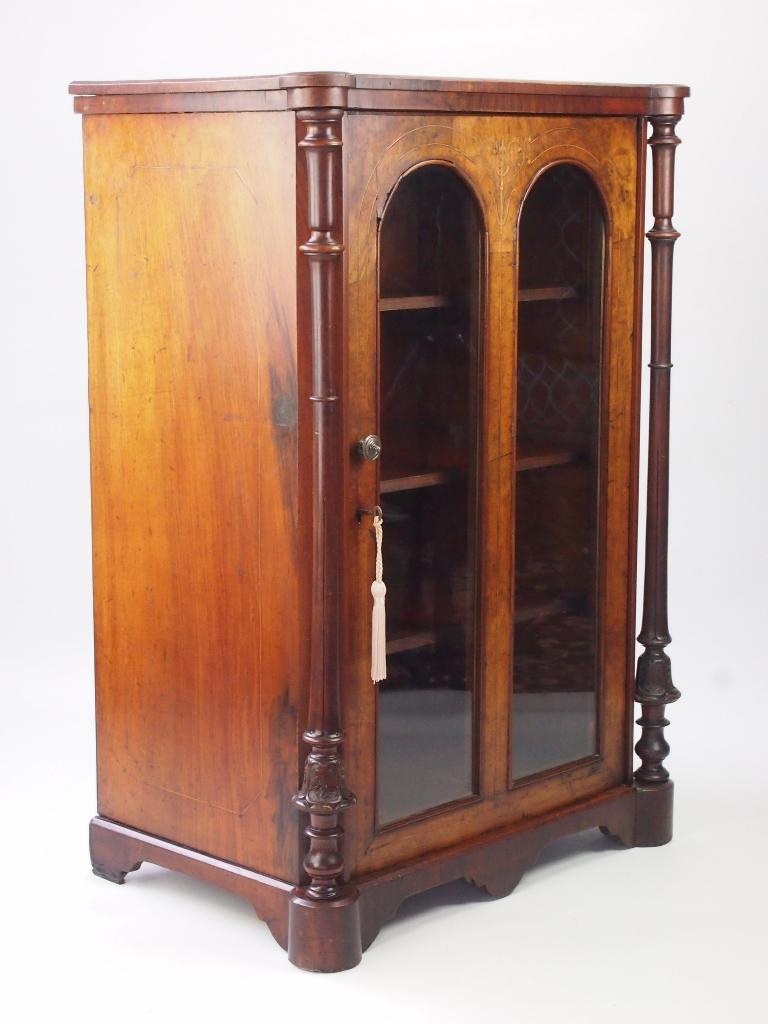 Antique Victorian Walnut Pier Cabinet Antique Music