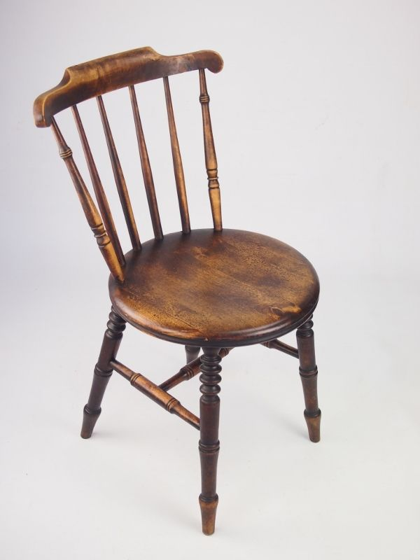 Harlequin Set 6 Antique Pine Kitchen Chairs Six Ibex