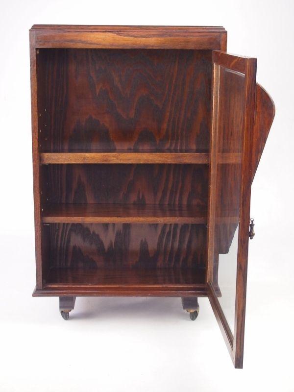 Adjustable Beds Reviews >> Vintage Oak Bookcase / Display Cabinet - Double Sided Cabinet