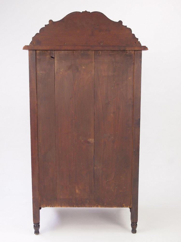 Antique Edwardian Music Cabinet Walnut Bookcase Small