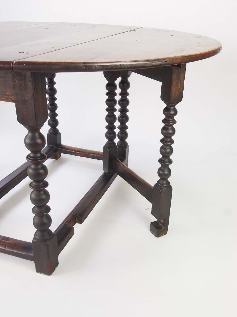 Antique 18th Century Oak Gate Leg Dining Table