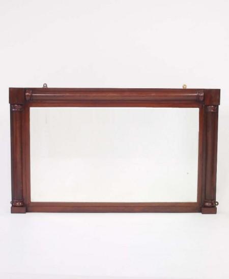 Antique Rosewood Overmantle Mirror