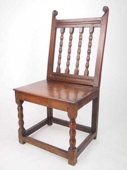 Antique 17th Century Oak Side Chair