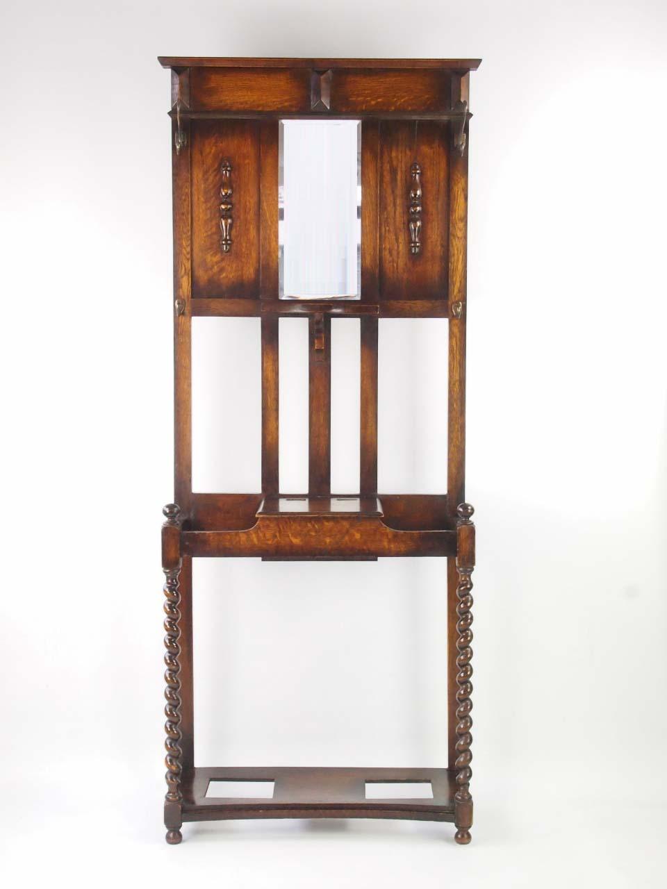 1920s Oak Hall Stand Vintage Hall Stands For Sale Online