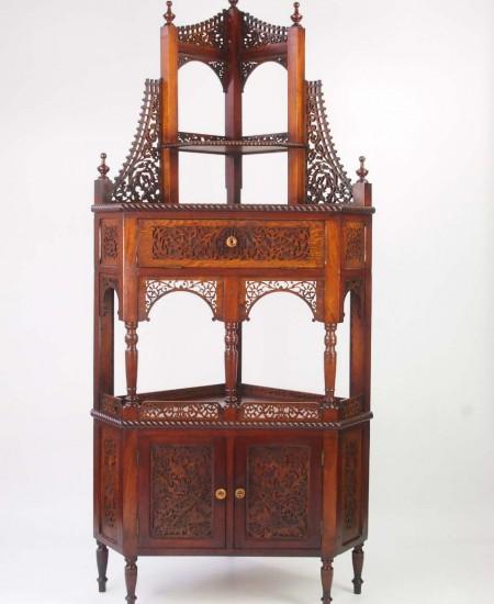 Victorian Floor Standing Corner Cupboard