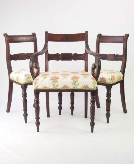 Set 3 Antique Regency Chairs