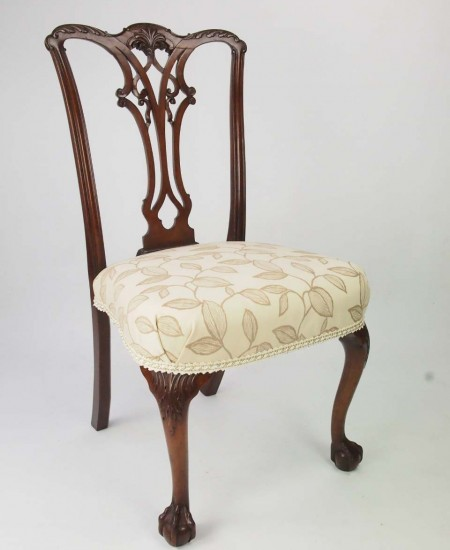 Antique Edwardian Chippendale Revival Chair