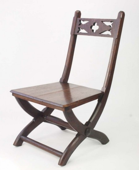 Antique Gothic Revival Side Chair