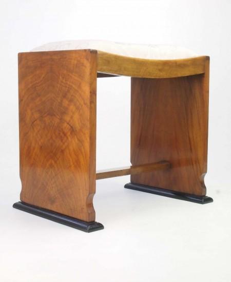 Art Deco Walnut Dressing Table Stool