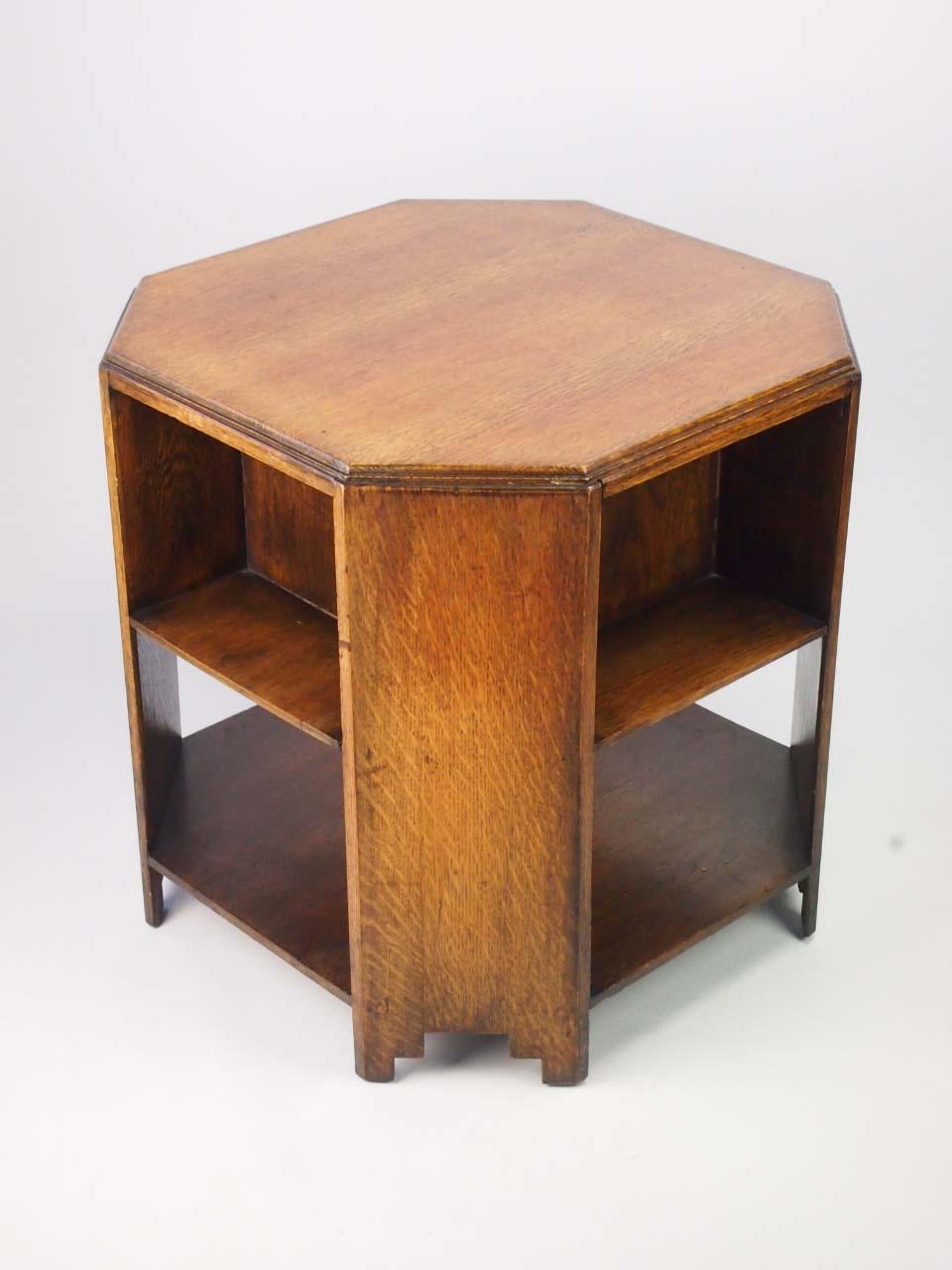 Art Deco Oak Book Table Art Deco Oak Coffee Table For Sale
