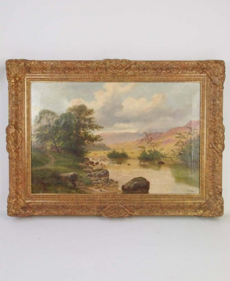 H W HENLEY Victorian Oil Painting