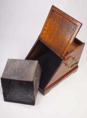 Edwardian Oak Coal Scuttle