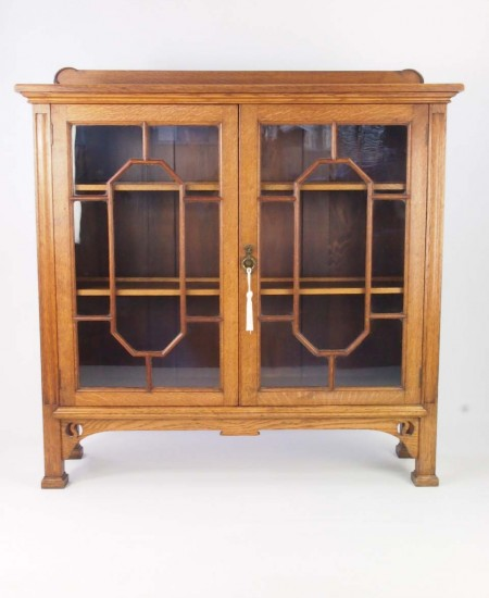 Antique Christopher Pratt Oak Bookcase