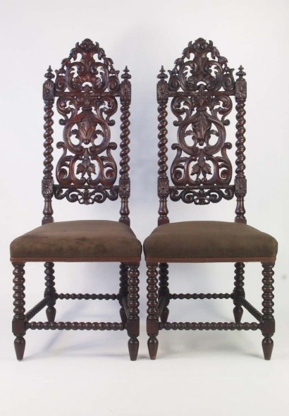 Victorian Gothic High Back Chairs