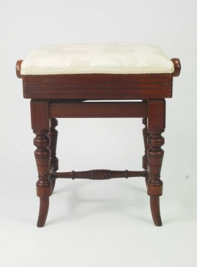 Antique Adjustable Piano Stool