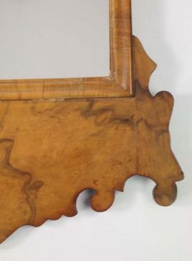 Vintage Walnut Fretwork Mirror