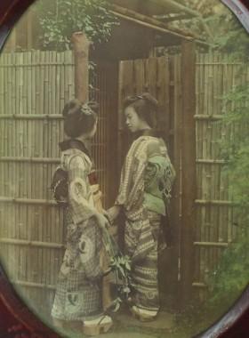 Antique Japanese Meiji Photo Frames