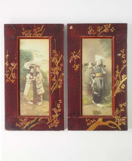 Antique Japanese Meiji Photo Frames