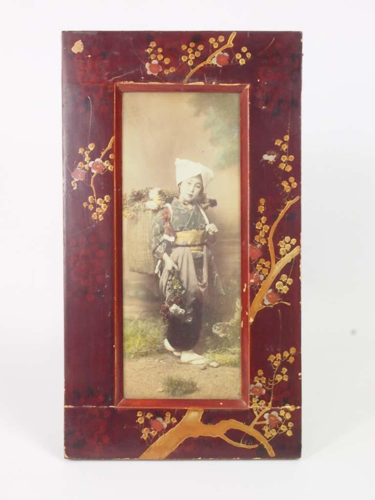 Pair Antique Japanese Meiji Photo Frames For Sale