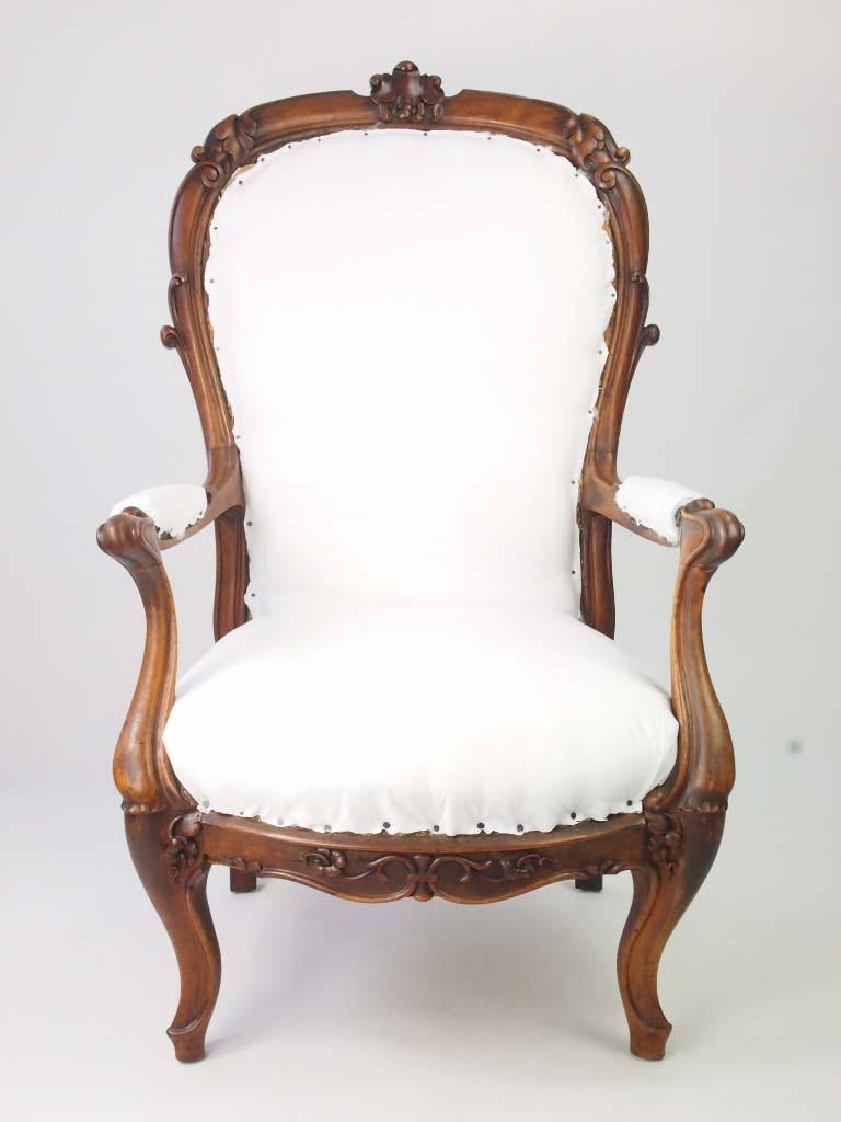 Antique Victorian Armchair - Antique Victorian Open Armchair For Sale Online -