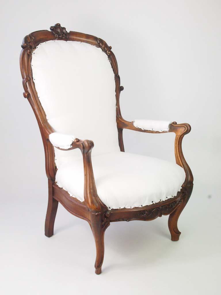 Antique Victorian Open Armchair For Sale Online