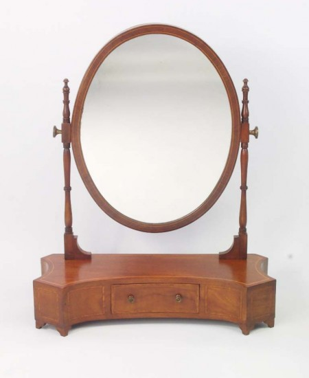 Antique Edwardian Toilet Mirror