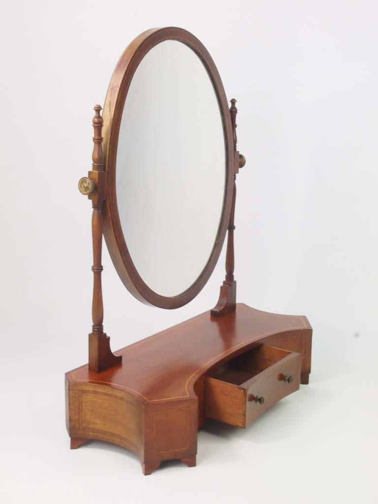 Antique Edwardian Toilet Mirror Dressing Table Mirror