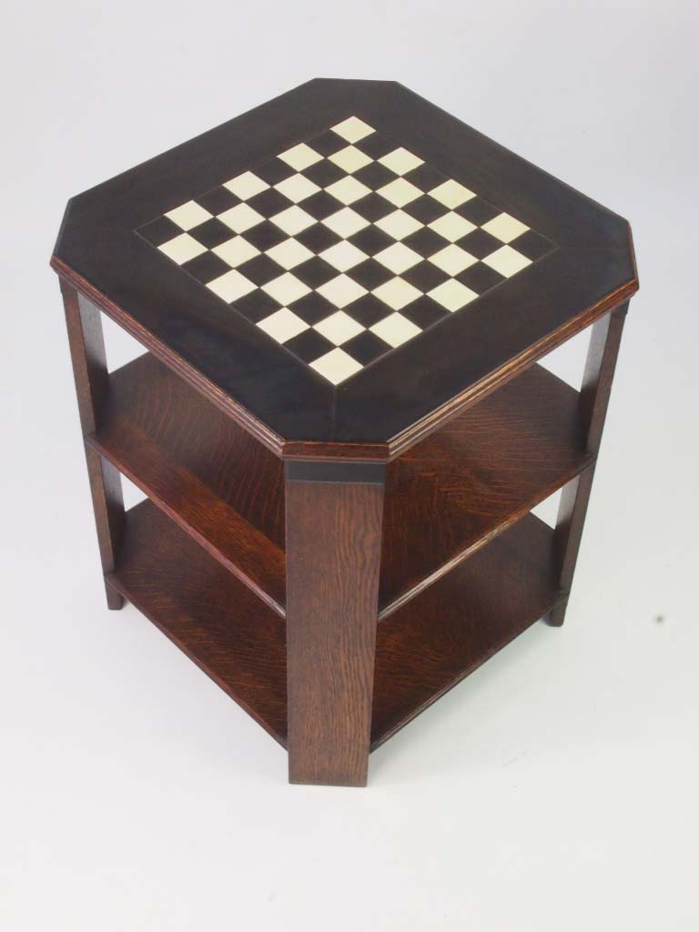 Art Deco Chess Table Art Deco Oak Coffee Table For Sale