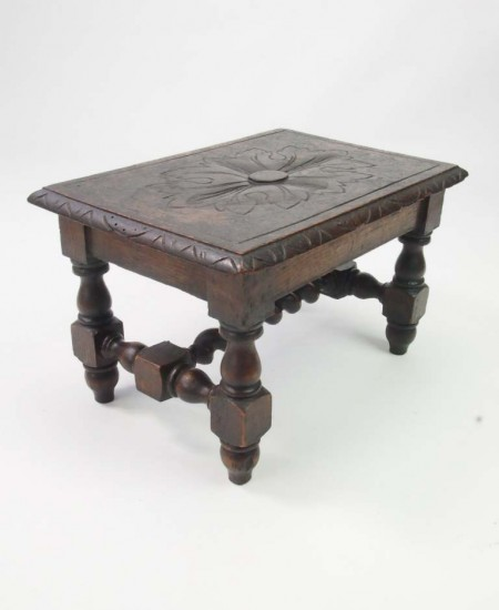 Antique Victorian Gothic Footstool