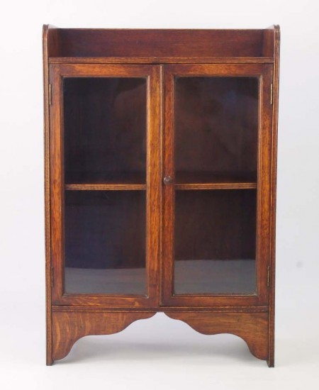 Small Edwardian Arts Crafts Oak Bookcase