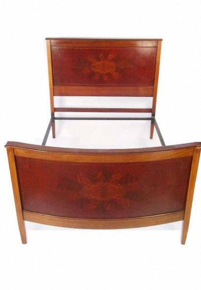 Edwardian Mahogany Double Bed