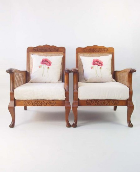 Pair Art Deco Armchairs