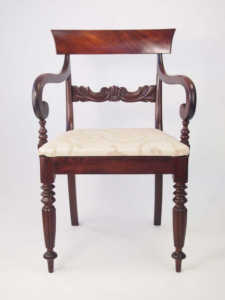 antique william iv mahogany desk chair for sale