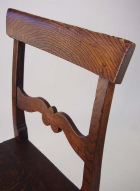 Pair Antique Elm and Oak Chairs