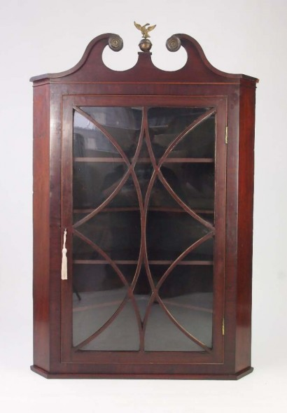 Antique Regency Corner Cabinet