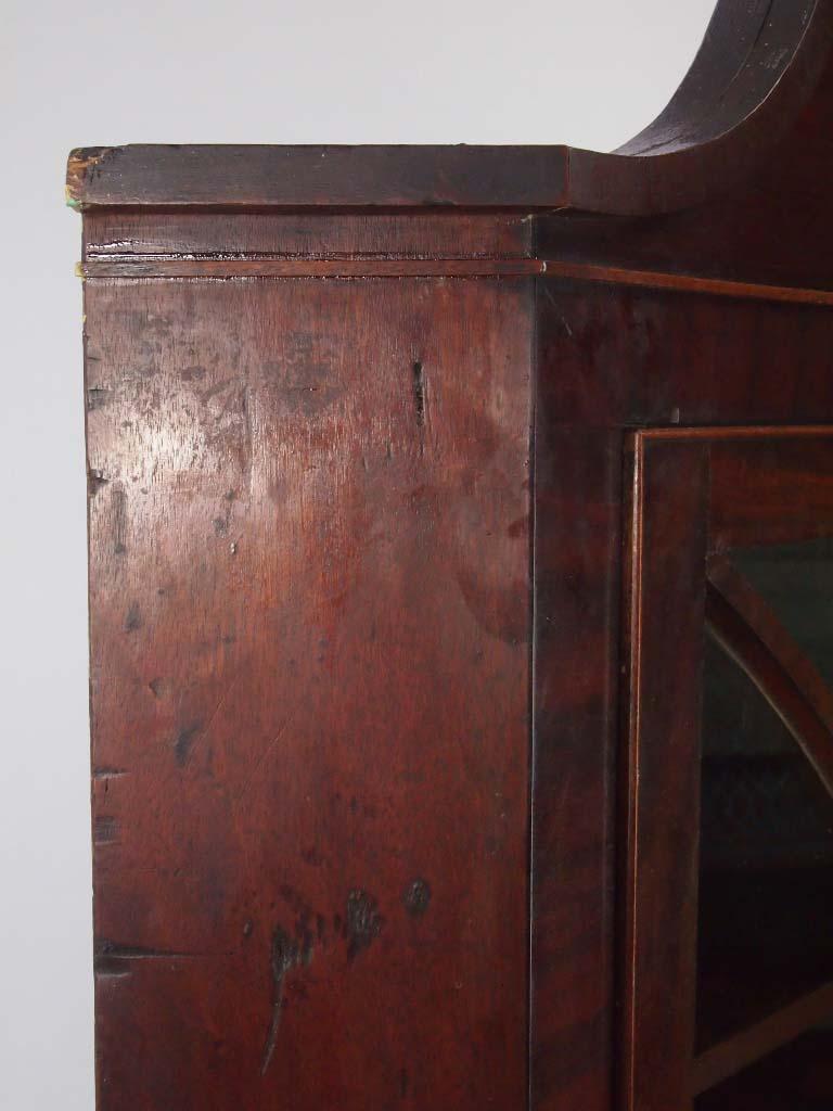 Antique Georgian Mahogany Corner Cupboard For Sale