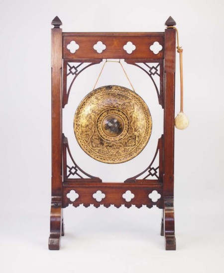 Large Antique Victorian Aesthetic Movement Dinner Gong