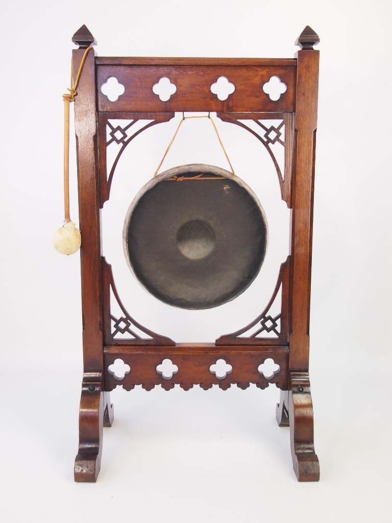 Large Antique Aesthetic Movement Dinner Gong For Sale