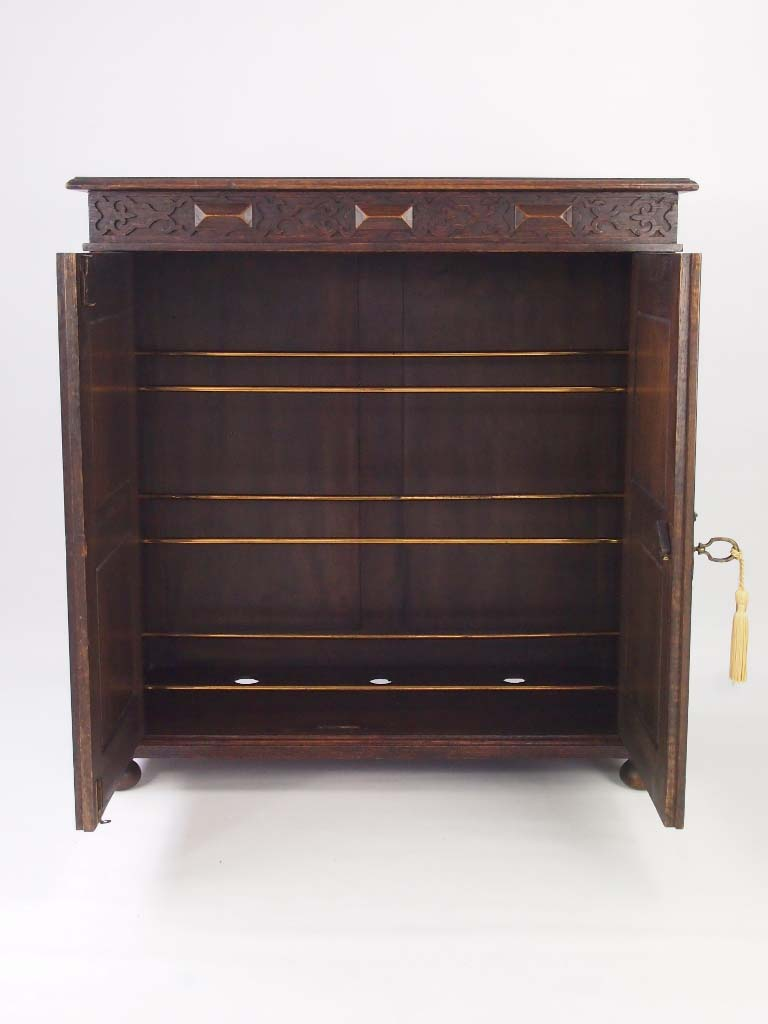 Oak Shoe Cabinet Circa 1920s For Sale Vintage Shoe