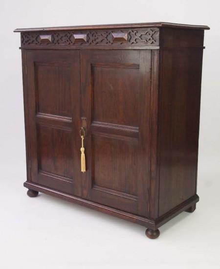 1920's Oak Shoe Cabinet