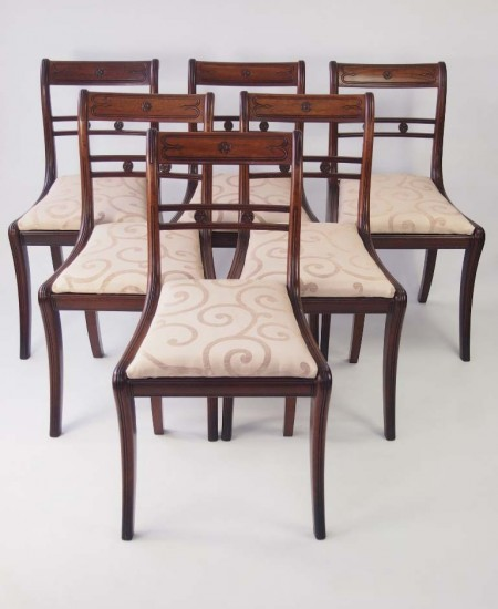 Set 6 Antique Regency Chairs
