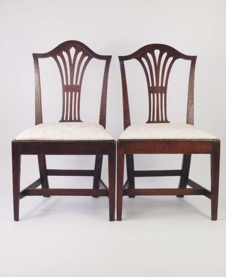 Near Pair of Georgian Country Chairs
