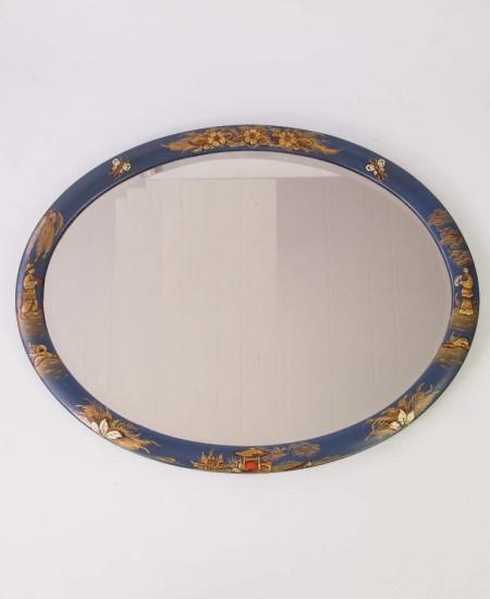 Vintage Chinosierie Oval Mirror