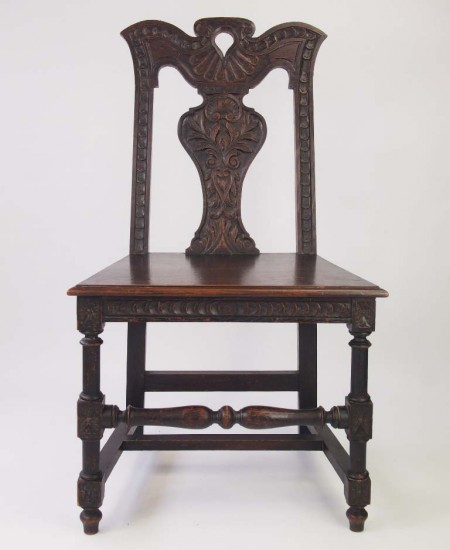 Antique Carved Oak Victorian Chair