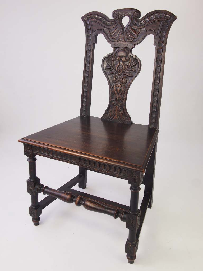 Victorian Furniture For Sale >> Antique Victorian Gothic Revival Hall Oak Chair For Sale