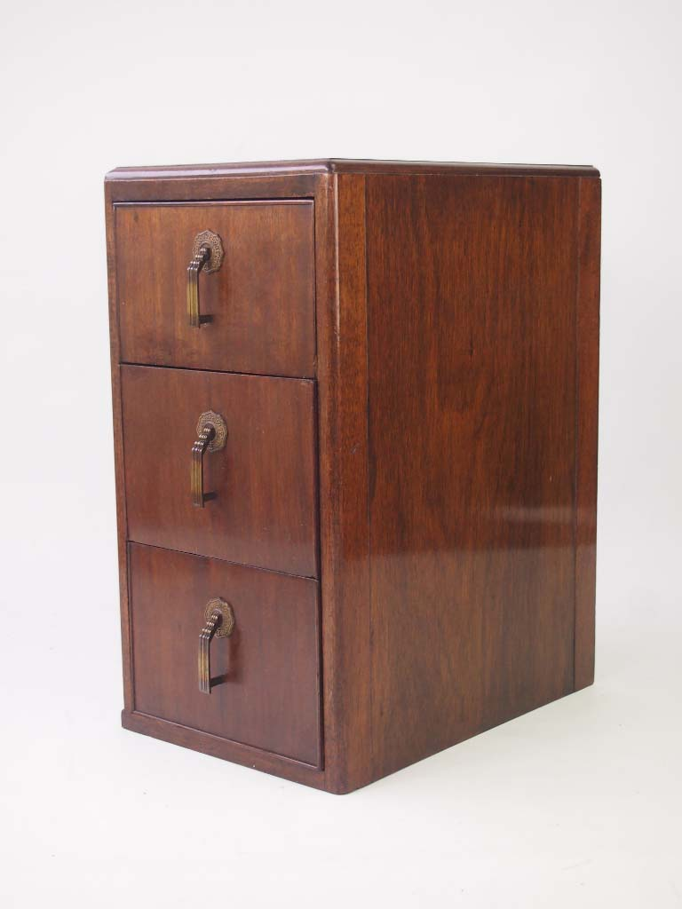 Pair Art Deco Bedside Cabinets Drawers For Sale