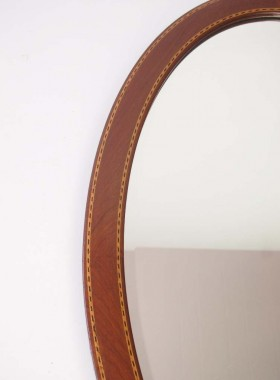 Antique Edwardian Mahogany Mirror